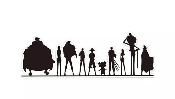 Autocollant One Piece Mugiwara Shadows