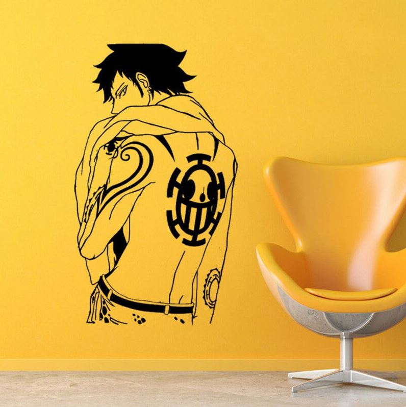 stickers mural one piece law
