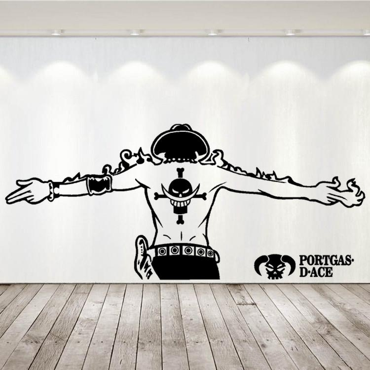 Sticker Mural One Piece Ace Back