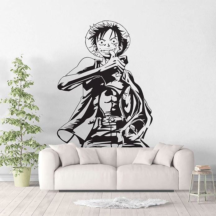 stickers mural luffy 2 one piece