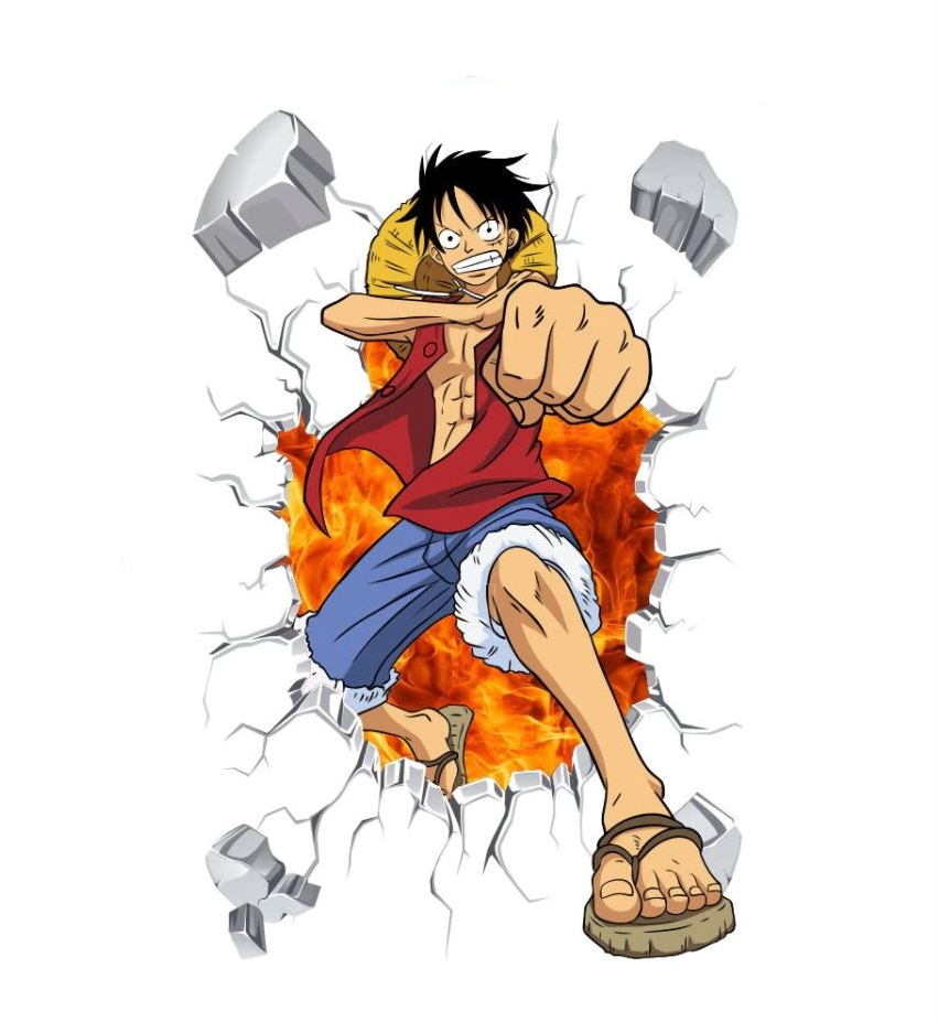 Sticker Mural One Piece Luffy Color