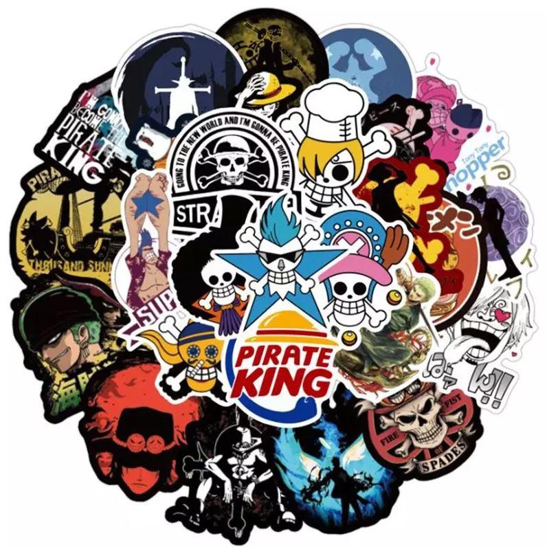 Autocollants One Piece Pack Logos x50