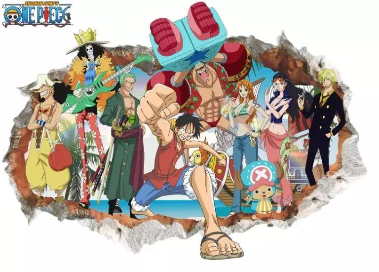 Sticker Mural One Piece Mugiwara