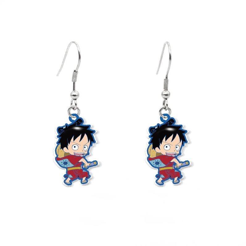 Boucles d\'oreilles One Piece Wano Luffy