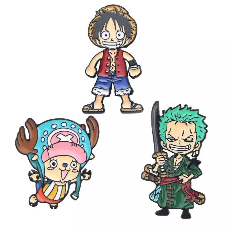 Broche One Piece Luffy Zoro Chopper