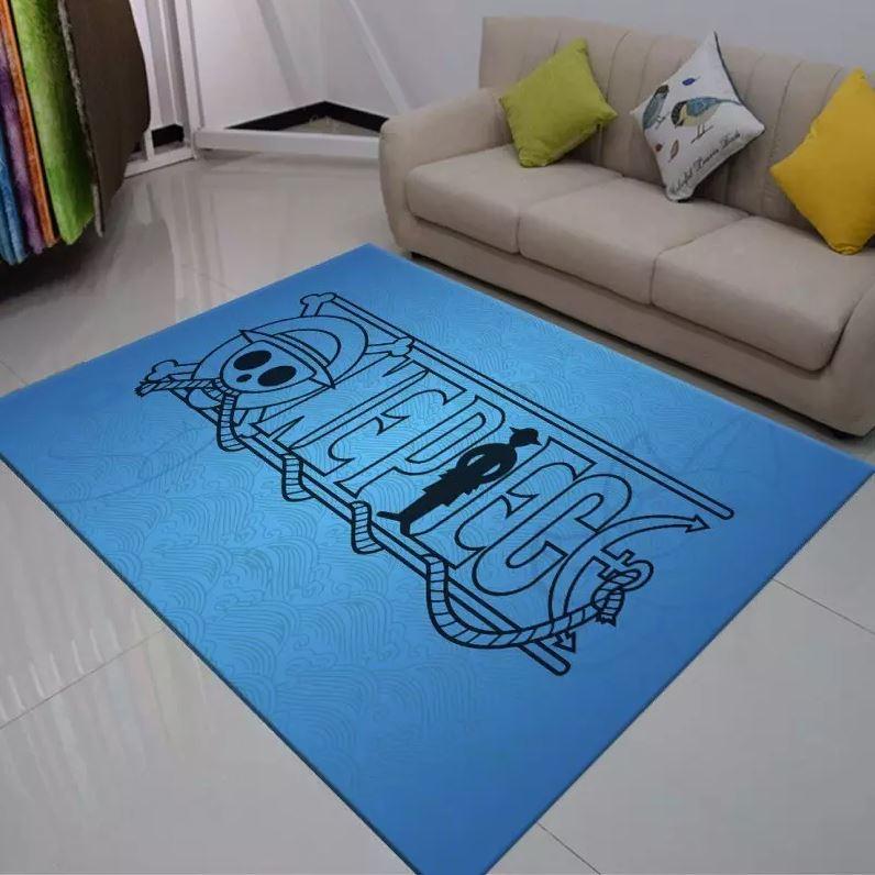 tapis logo bleu one piece