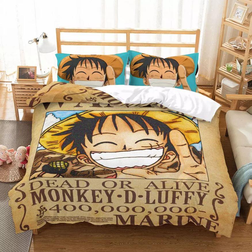 Parure de Lit One Piece Wanted Luffy