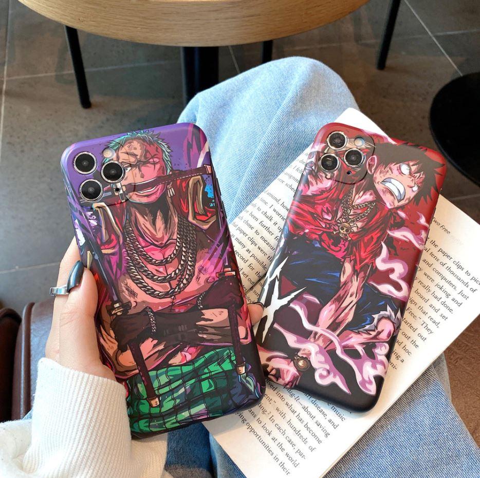 Coque iPhone One Piece Luffy & Zoro Fight