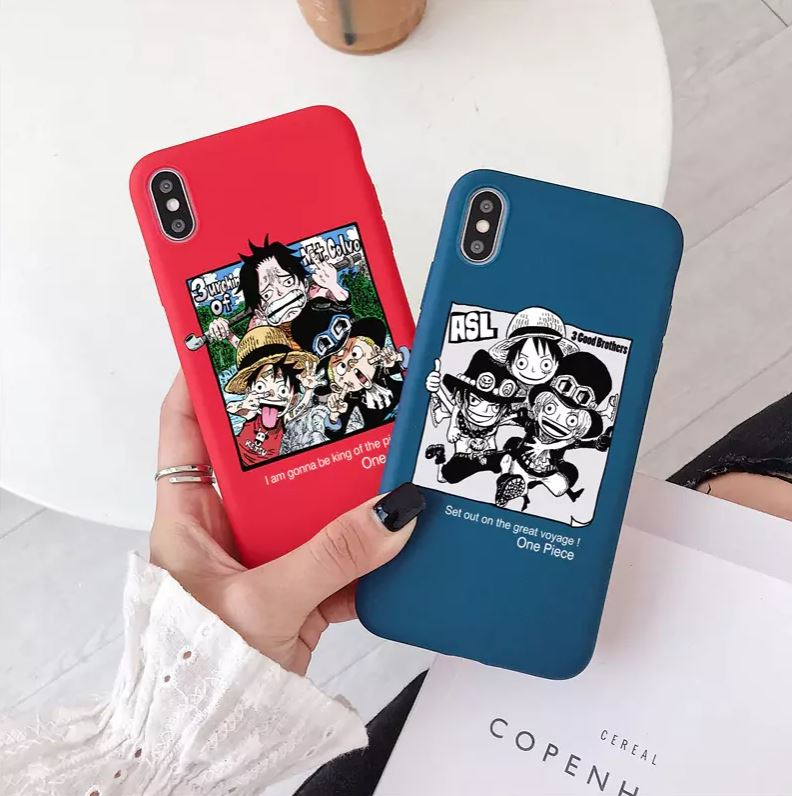 coque iphone one piece brothers luffy ace sabo 1