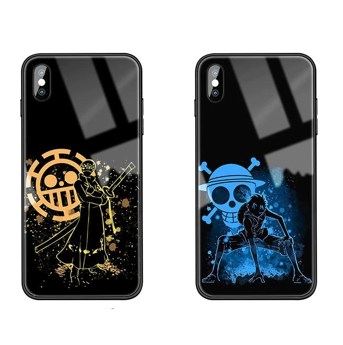 Coque iPhone One Piece Luffy & Law