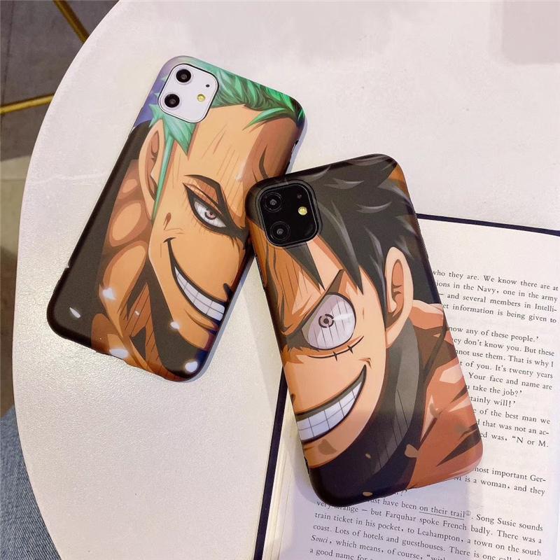 Coque iPhone One Piece Luffy & Zoro