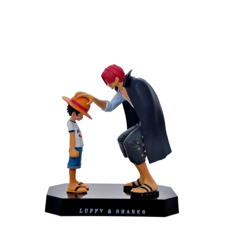 Figurine One Piece Luffy & Shanks Le Commencement