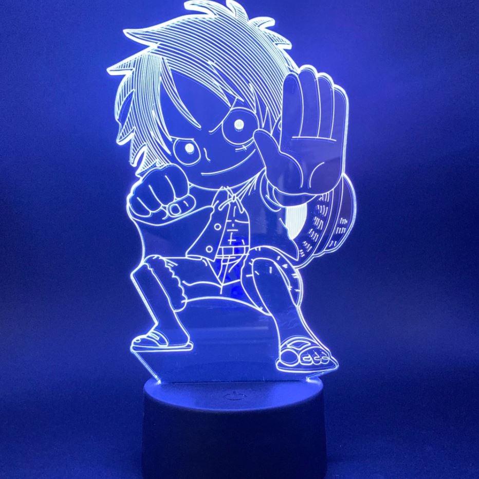 Lampe 3D One Piece Luffy Kid