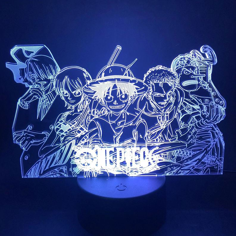 Lampe 3D One Piece Mugiwara 2