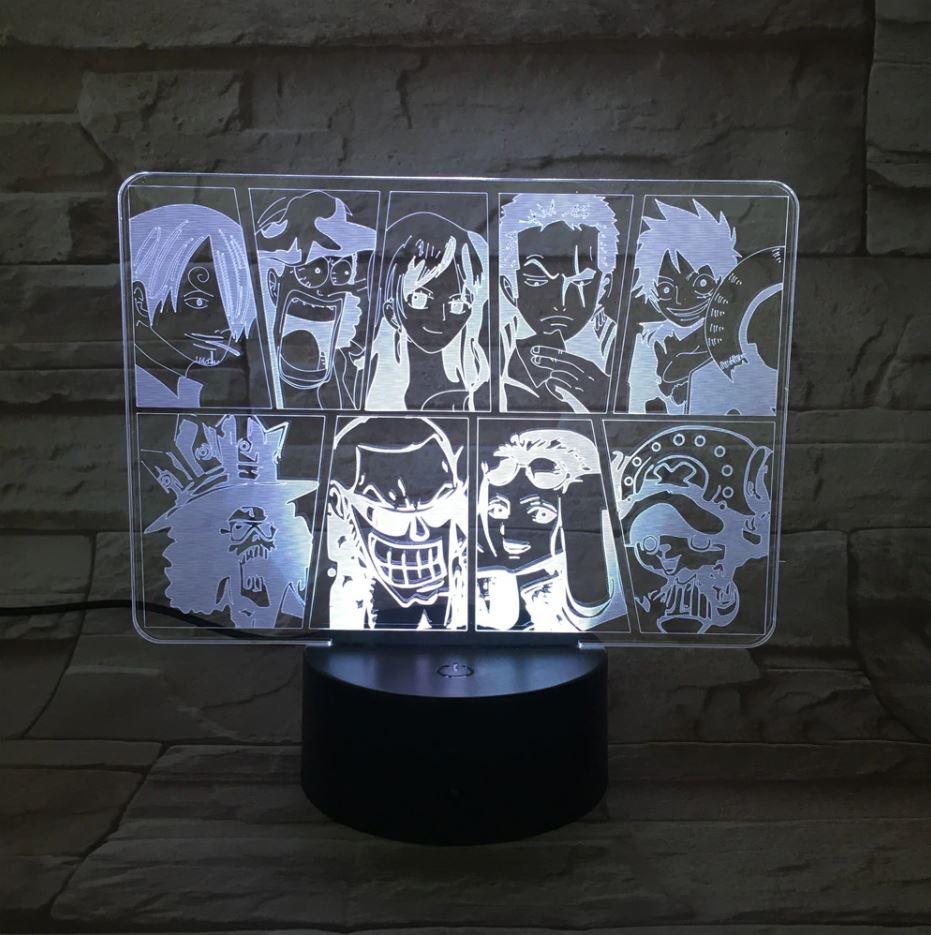 Lampe 3D One Piece Mugiwara