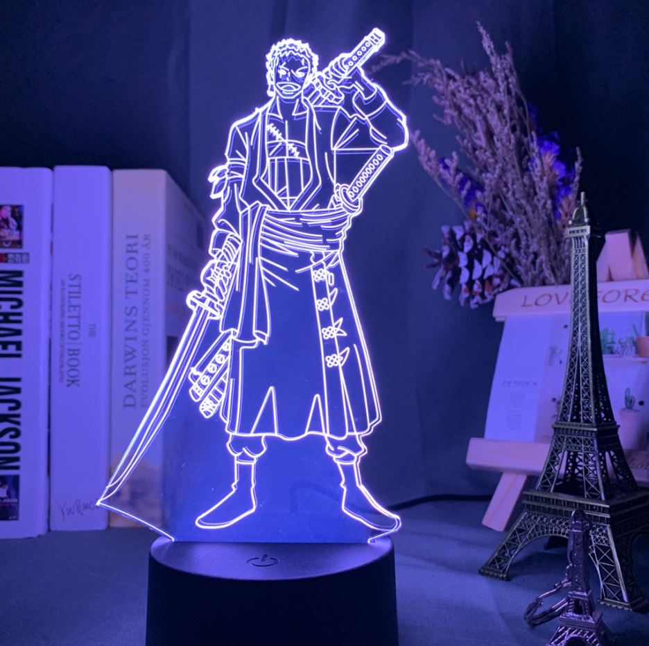 Lampe 3D One Piece Zoro
