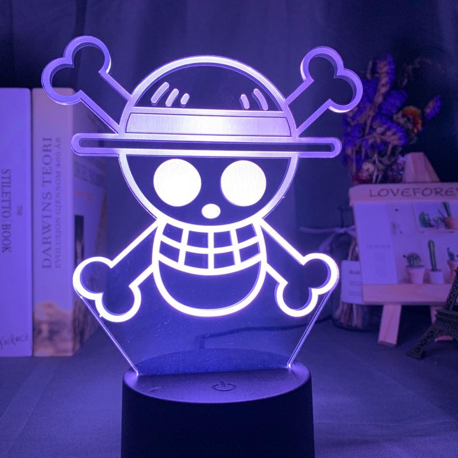 Lampe 3D One Piece Logo
