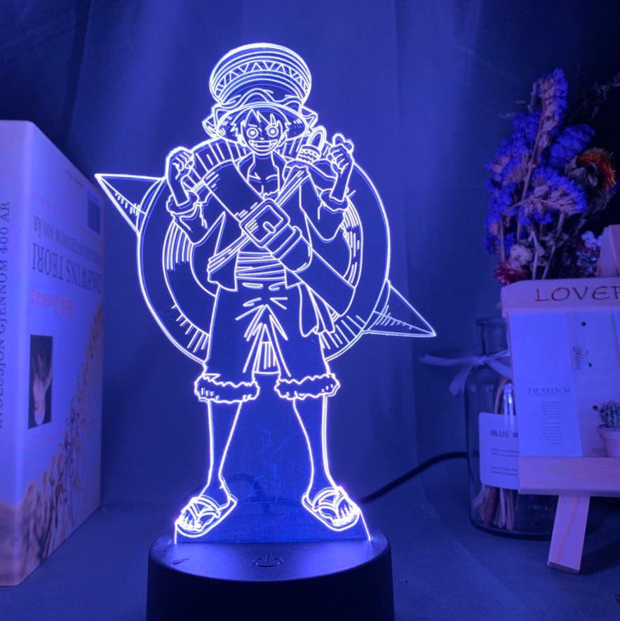 Lampe 3D One Piece Luffy Hat