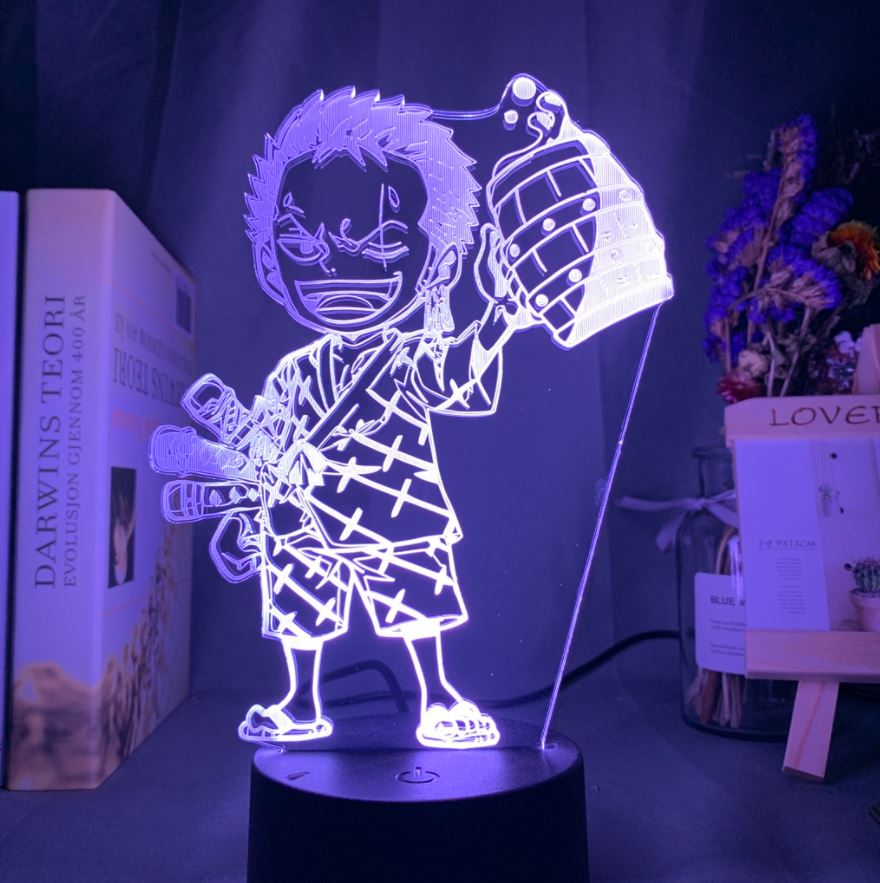 Lampe 3D One Piece Mini Zoro