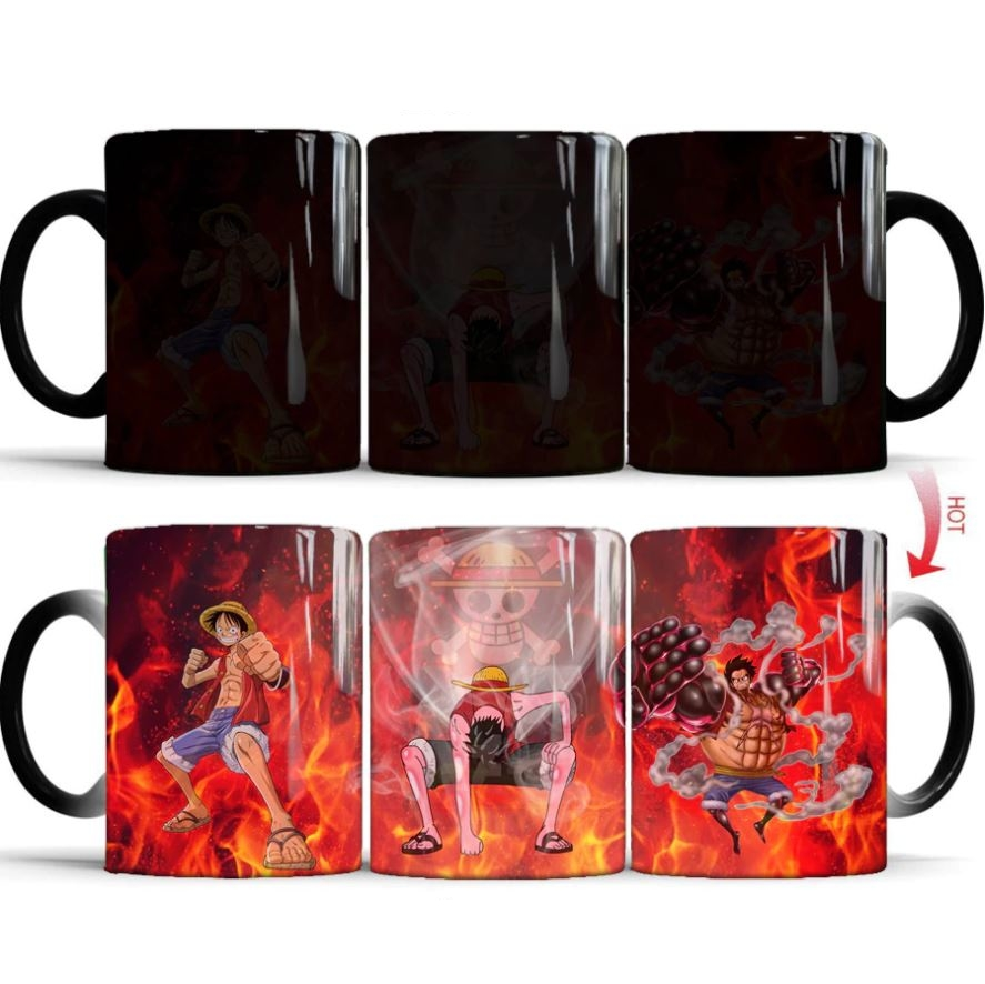 Mug One Piece Thermo-réactif Luffy Transformations