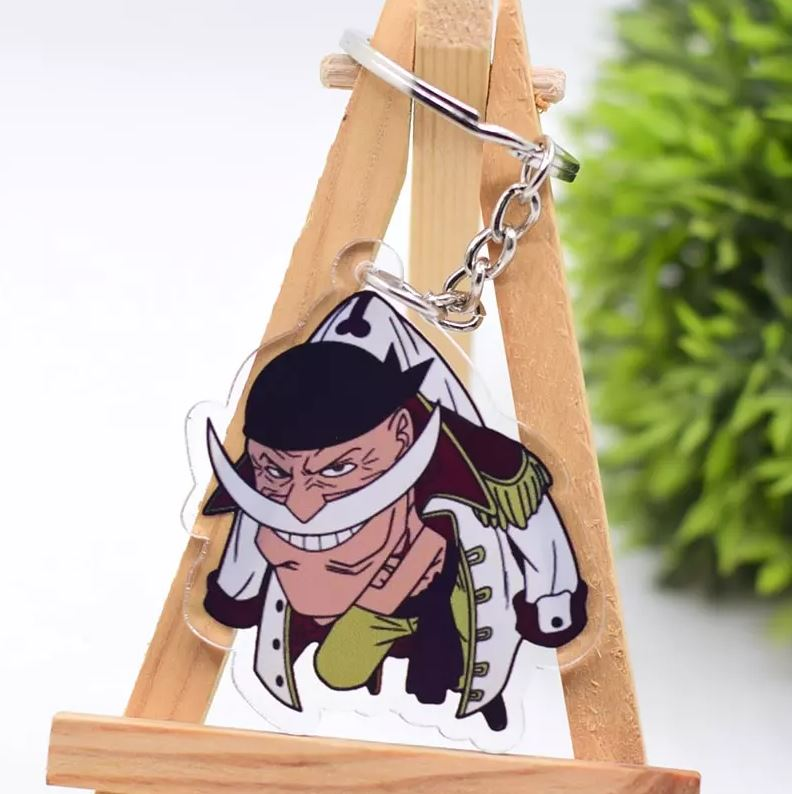 porte cles one piece rope barbe blanche