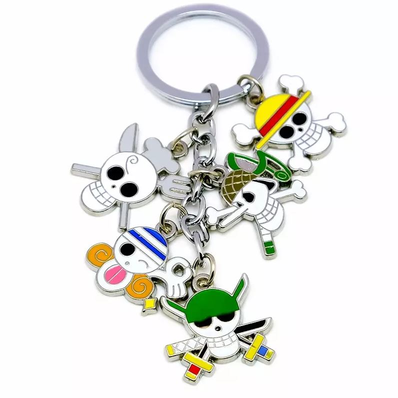 porte cles one piece five jolly roger 2