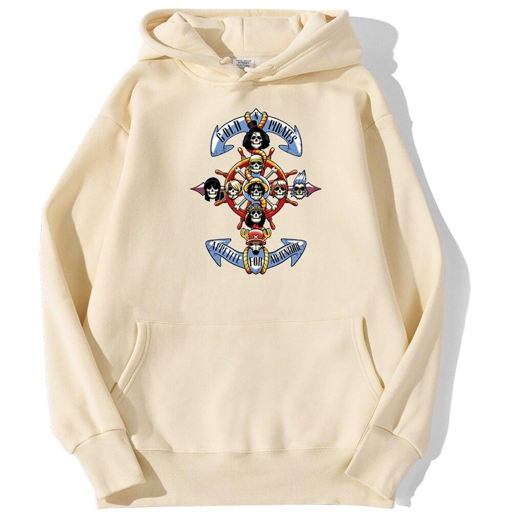 sweatshirt hoodie one piece gold pirates beige