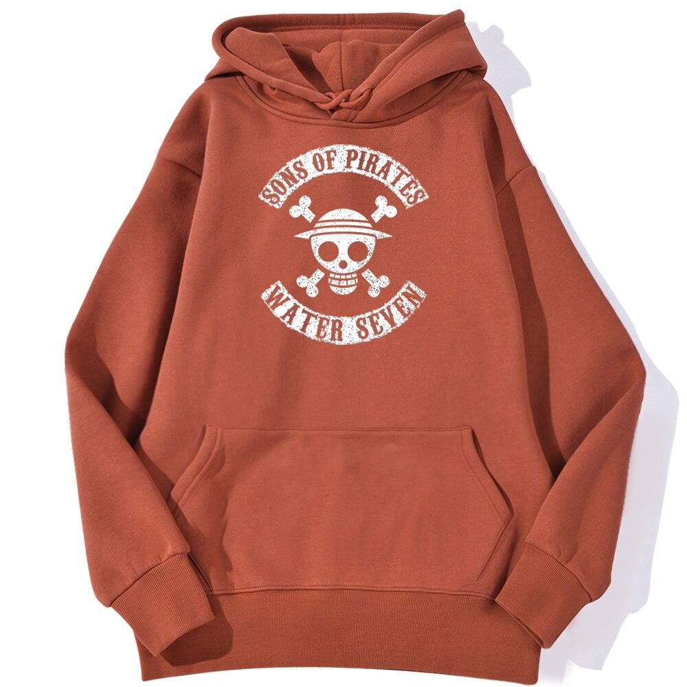 sweatshirt hoodie one piece water seven rouge brique