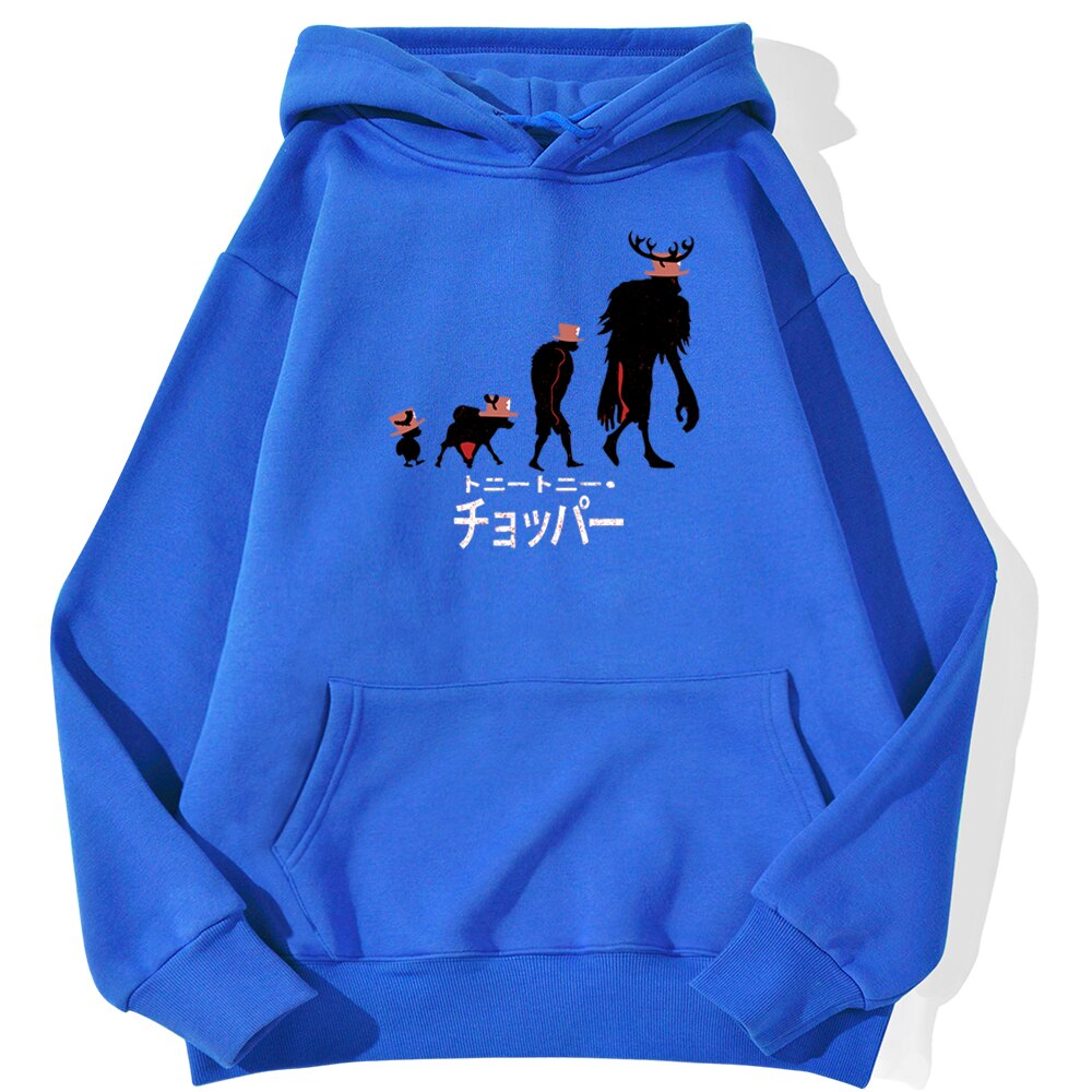 sweatshirt hoodie one piece chopper point bleu