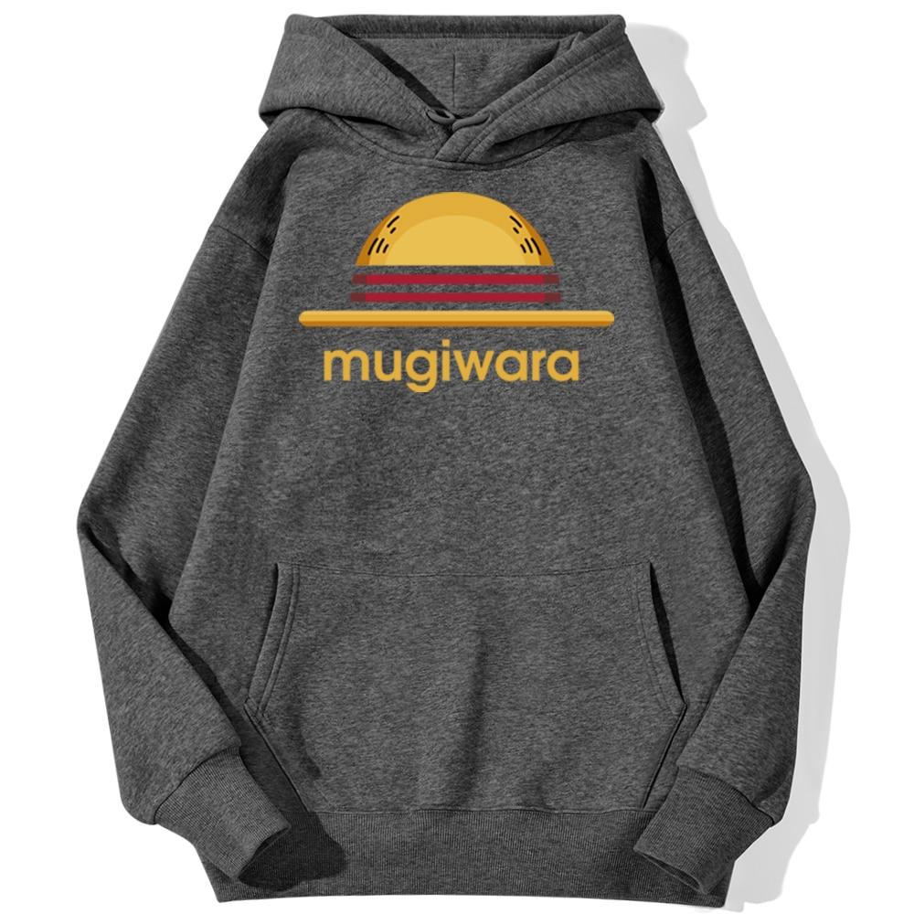 sweatshirt hoodie one piece mugiwara strawhat gris fonce