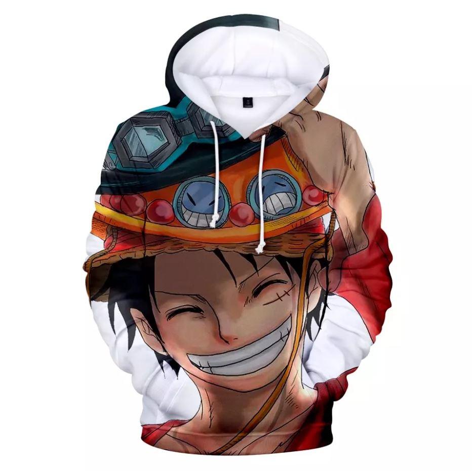 sweatshirt hoodie one piece luffy hat