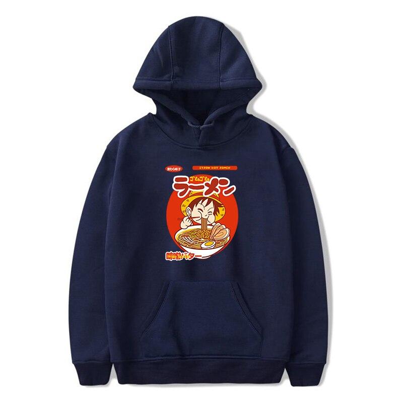 sweatshirt hoodie one piece luffy ramen