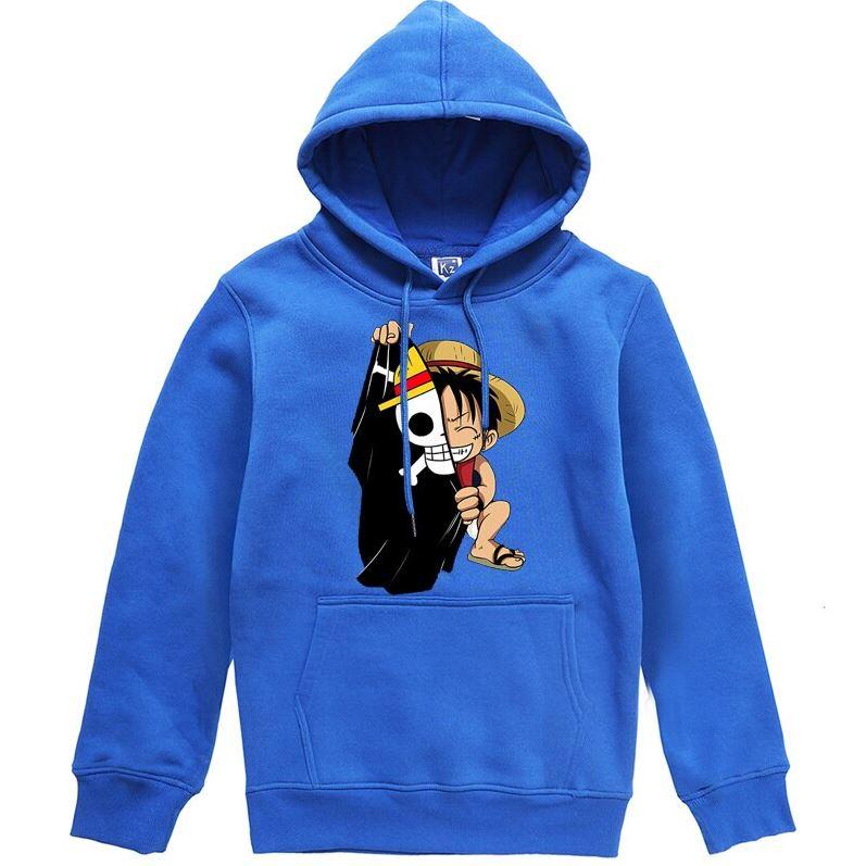 Sweatshirt One Piece Luffy Flag