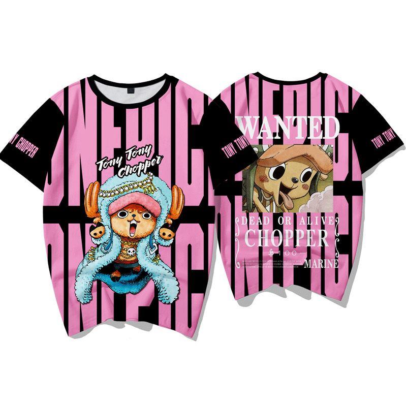 T-Shirt One Piece Wanted Chopper