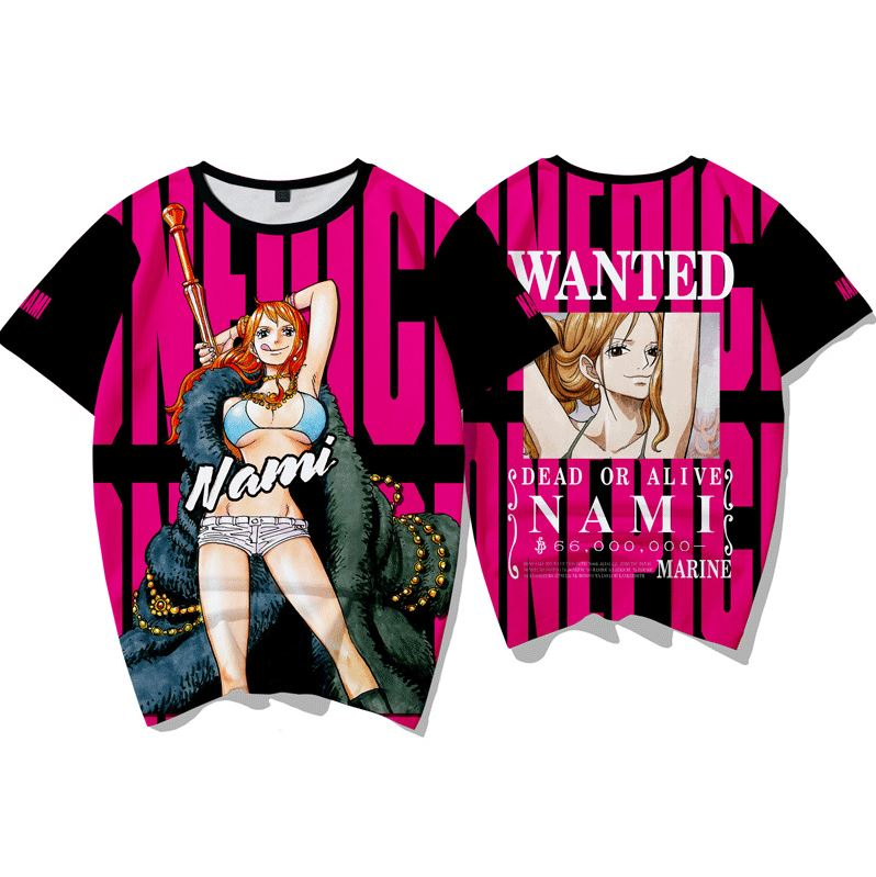T-Shirt One Piece Wanted Nami