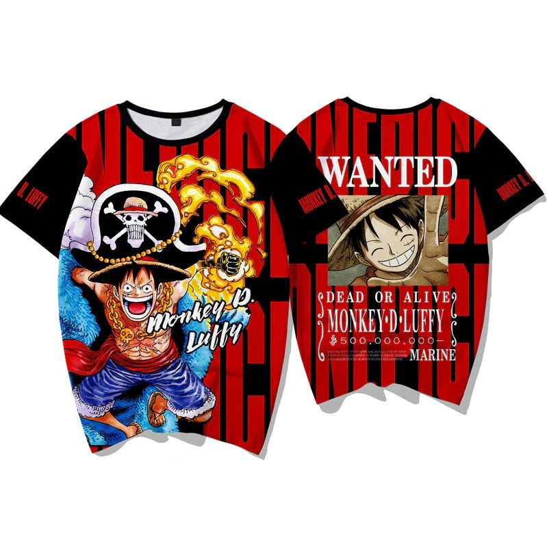 T-Shirt One Piece Wanted Luffy