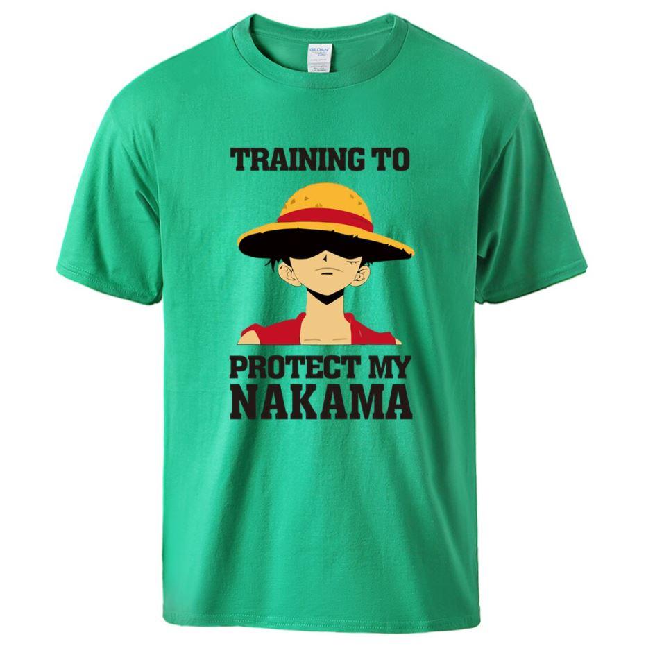 t shirt one piece protect nakama luffy vert