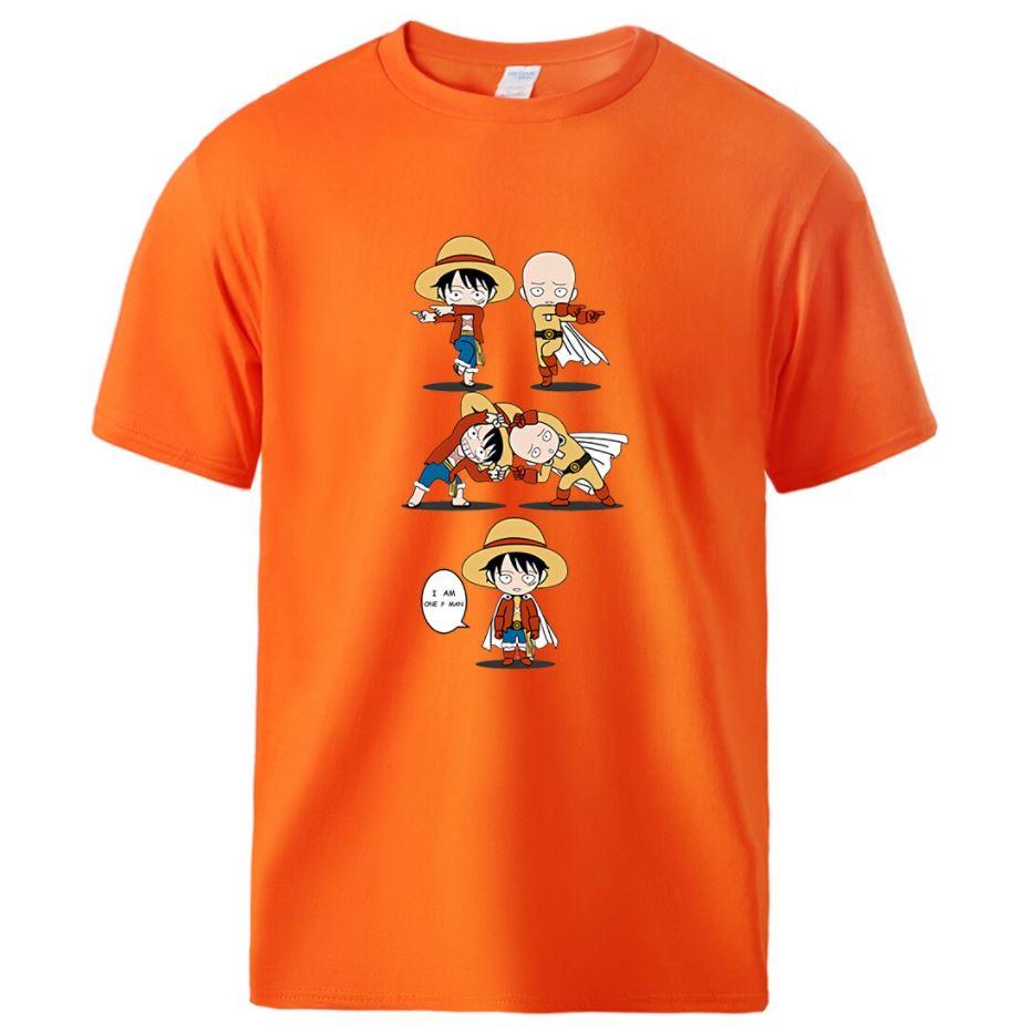 T-Shirt One Piece Luffy & Saitama