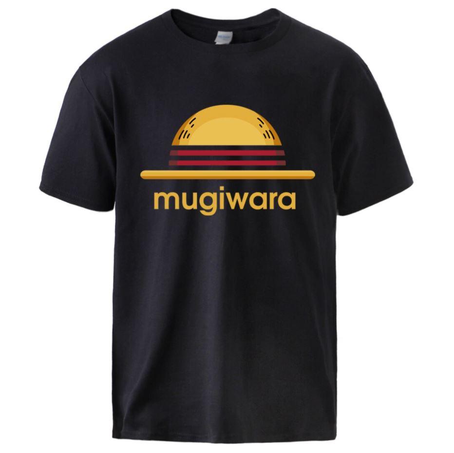 t shirt one piece mugiwara noir