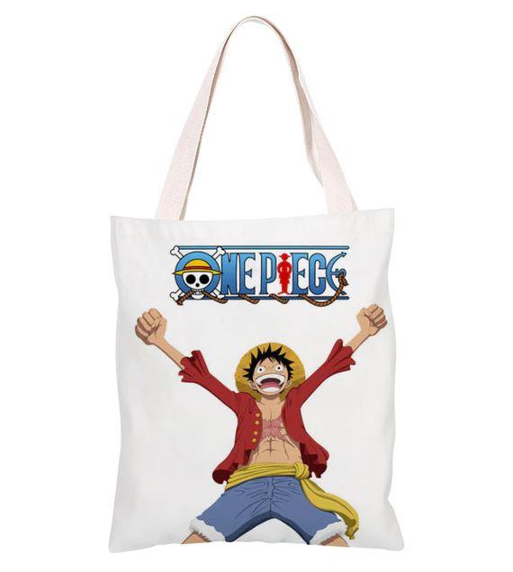 sac one piece shopping toile monkey luffy