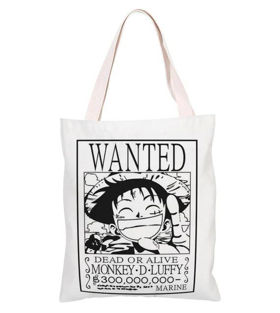 Sac de Shopping One Piece Luffy Wanted 1
