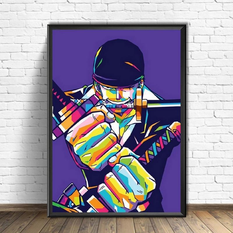 Tableau One Piece Zoro Color