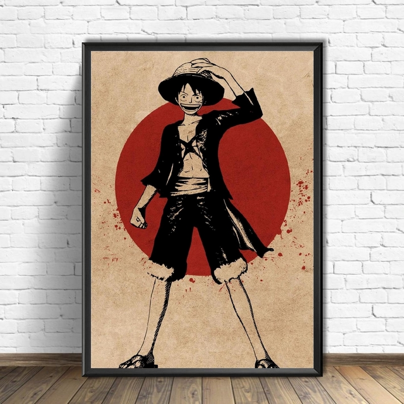 Tableau One Piece Red Point Luffy