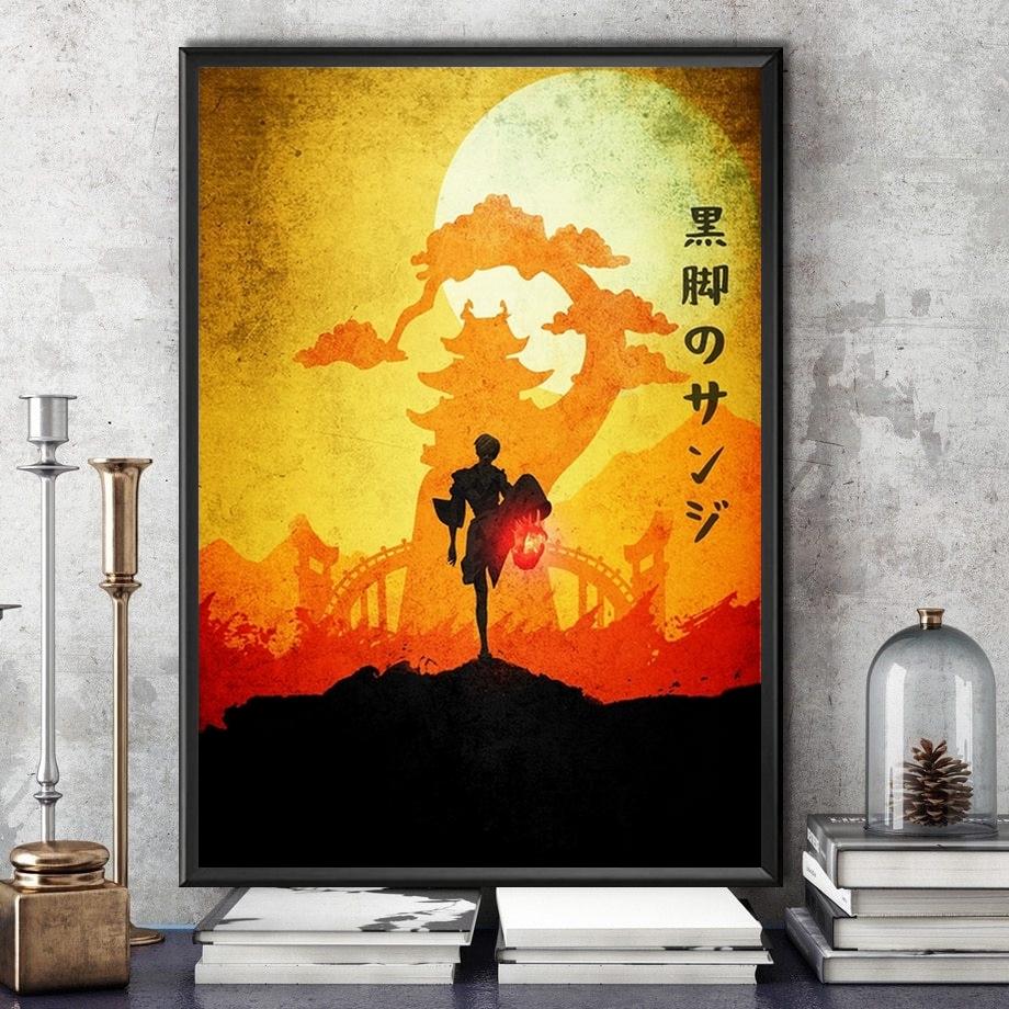 tableau toile one piece landscape vinsmoke sanji wano kuni 4