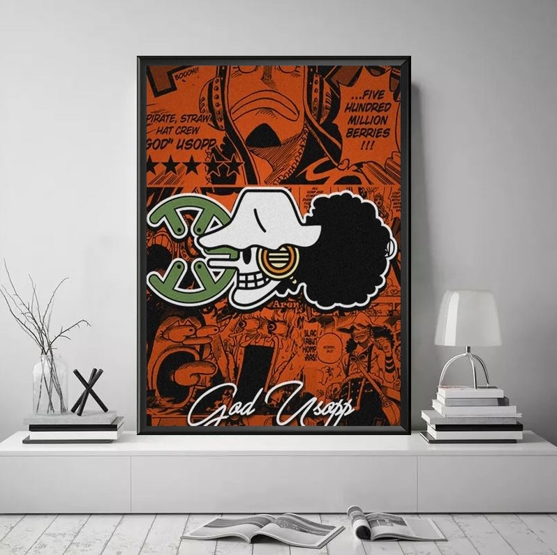 tableau toile one piece jolly roger usopp 4