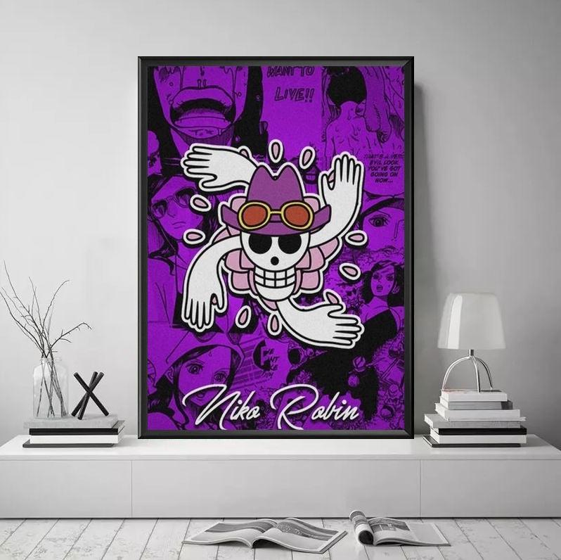 Tableau One Piece Jolly Roger Robin