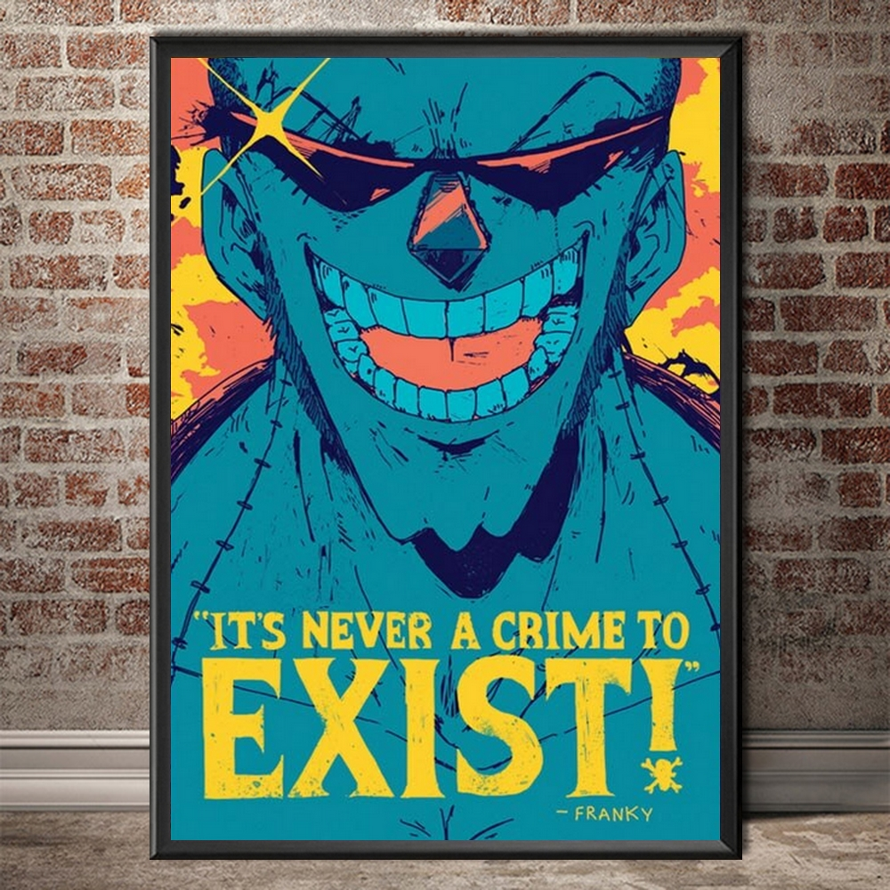 tableau toile one piece quote franky 4