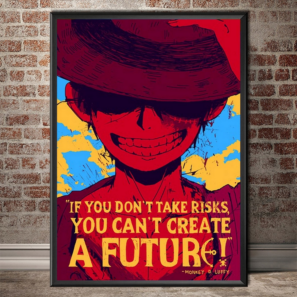 Tableau One Piece Quote Luffy