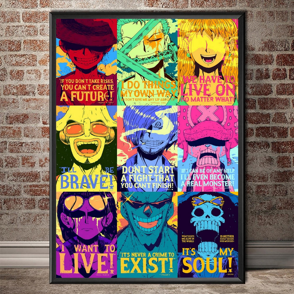 tableau toile one piece quote mugiwara 4