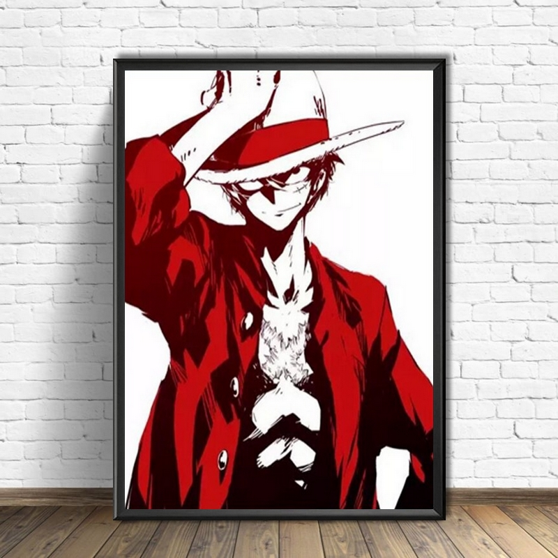 Tableau One Piece Luffy Red